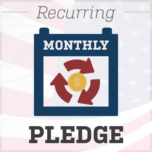 recurring monthly pledge
